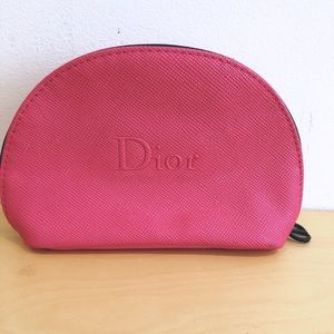 NEW CHRISTIAN DIOR Hot Pink Makeup Pouch